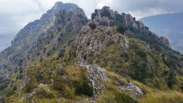 Creste del Mirabella territorio di San Giuseppe Jato