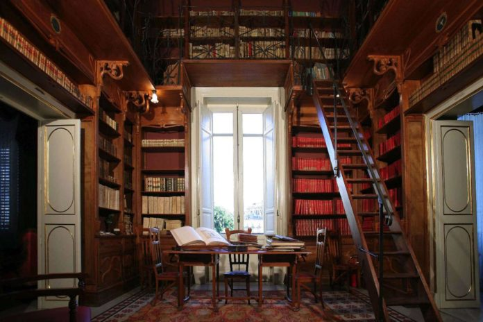 E. Basile, biblioteca di palazzo Francavilla
