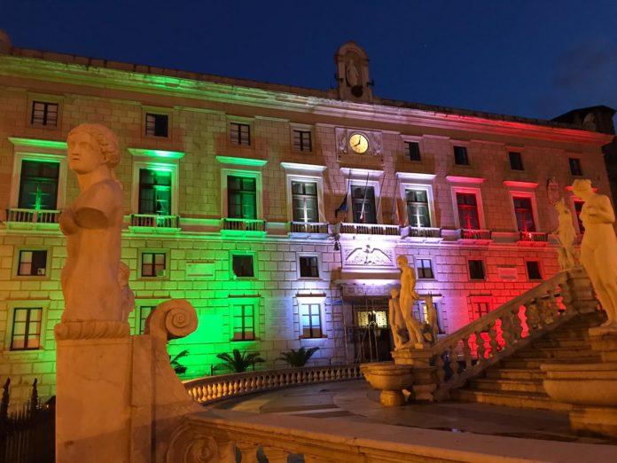 palazzo delle aquile - palermo -tricolore