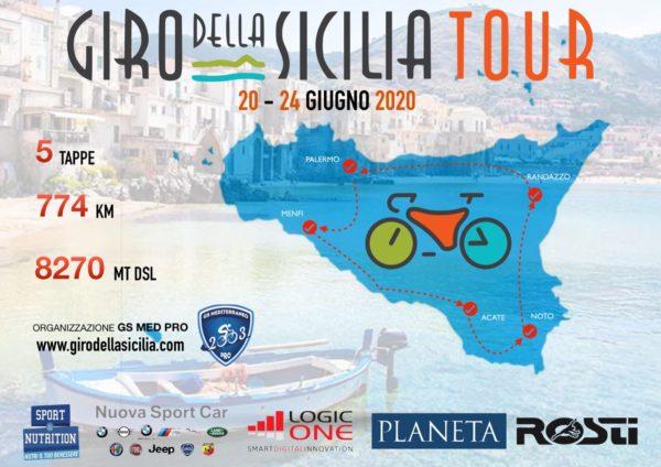 Parte da piazza Verdi il Giro della Sicilia Tour. Lo start sabato 20 giugno