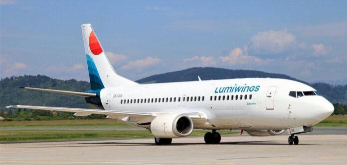 Un aeromobile della compagnia aerea Lumiwings
