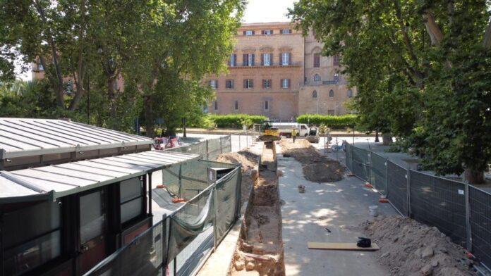 Scavi rete fognaria Palazzo dei Normanni